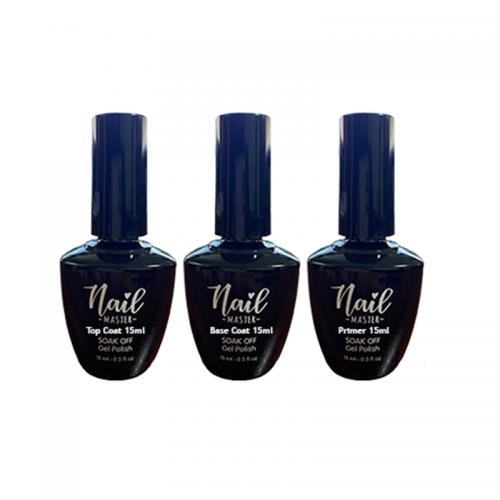 Nail Master Top Coat 15ml ve Base Coat 15ml Primer 15ml
